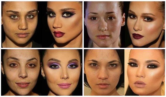 Меняем форму лица: до и после макияжа