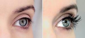Глаза до и после макияжа