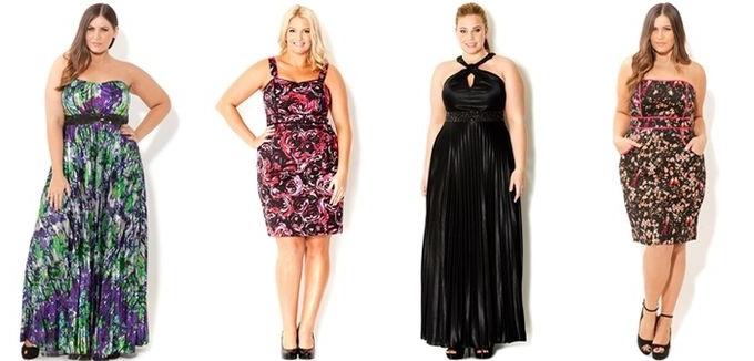 Выбор фасона платья для полной фигуры