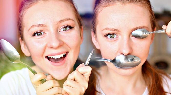 Как сделать макияж с ложкой
