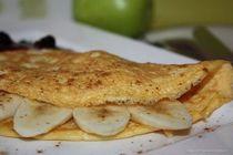 Омлет с бананом – вкусное блюдо