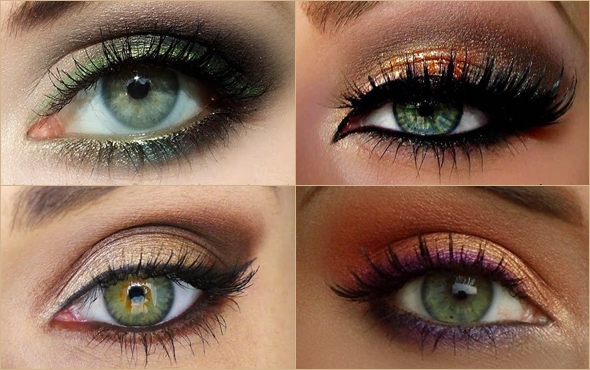 Повседневный макияж для карих и зеленых глаз